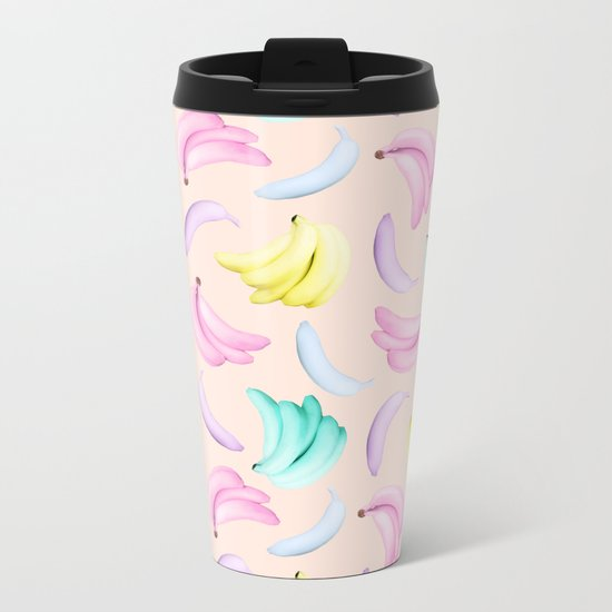 Pop Bananas Metal Travel Mug