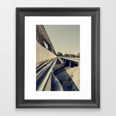 Summer Bridge Framed Art Print