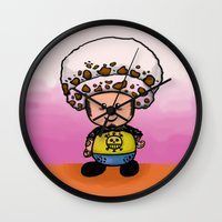 law Wall Clocks featuring Toads Law by Dama Chan