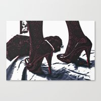 heels Canvas Prints featuring heels. by Nasayousef