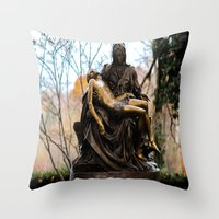 religious Throw Pillows featuring Religious by Nevermind the Camera