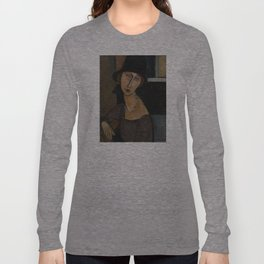 Modigliani - Jeanne Hebuterne With Hat And Necklace Long Sleeve T-shirt