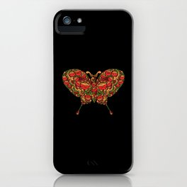 The Butterfly in Khokhloma iPhone Case