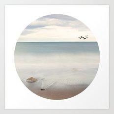 Solace Ocean Seaside Beach Neutral Fine Art Prints Gifts Art Print