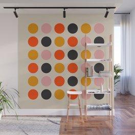 Retro Bauhaus Dots | 70s European Pattern Wall Mural