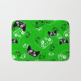 Video Game Green Bath Mat