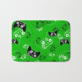 Video Game Green Bath Mat