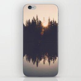 Wooded Lake Reflection  - Nature Photography iPhone Skin