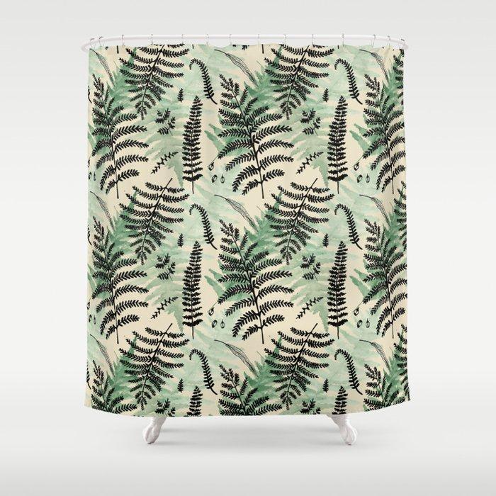 Fern Pattern 1 Shower Curtain by marilynfoehrenbach | Society6