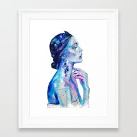queen Framed Art Prints featuring Queen by Andreea Maria Has
