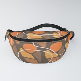 Retro Pattern Abstract Man Orange Brown Fanny Pack