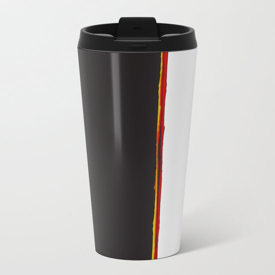 No Traveler Returns Abstract Print Metal Travel Mug