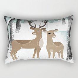 Winter Deer by Andrea Lauren  Rectangular Pillow
