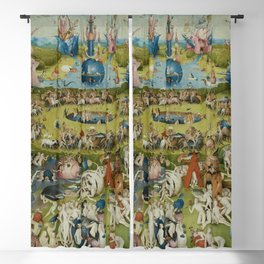 The Garden of Earthly Delights - Hieronymus Bosch Blackout Curtain