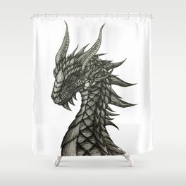 Jerry the Dragon Shower Curtain
