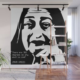 Zaha Hadid Quote Wall Mural