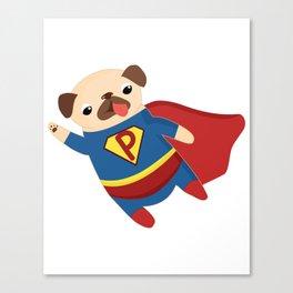 Super Pug Canvas Print