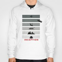 inception Hoodies featuring Inception by Duck Cartel