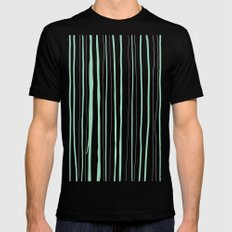 Vertical Living Mint Black Mens Fitted Tee MEDIUM