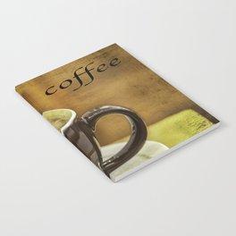 cappuccino coffee textured art Notebook