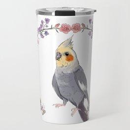 Cockatiel Wreath Travel Mug