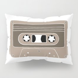 Audio cassette brown Pillow Sham