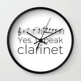 I speak clarinet Wall Clock