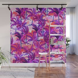 Palm Tree Purple Wall Mural
