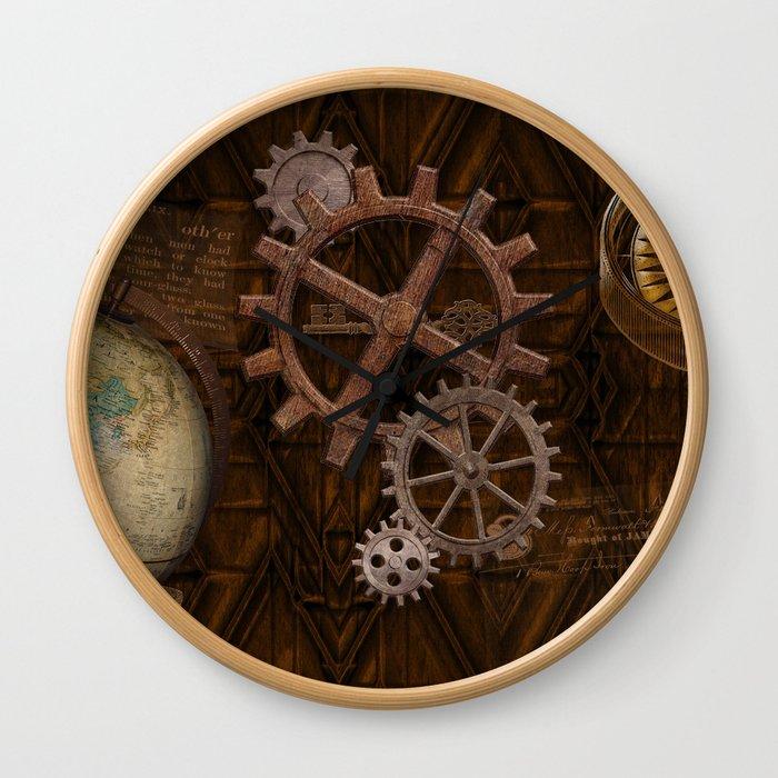 Comforts of Steampunk Wall Clock
