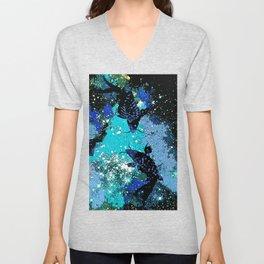 Koi In A Pond of Stars Unisex V-Neck