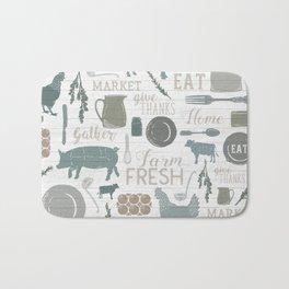 Modern Farmhouse // Gather Round & Give Thanks Bath Mat