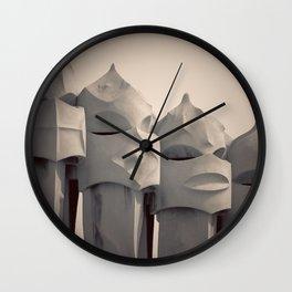Gaudi's Chimneys Wall Clock