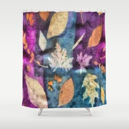 Colorful fallen leaves abstract Shower Curtain
