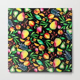 Colorful summer fruit pattern Metal Print