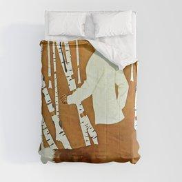 Coles Phillips 'Fadeaway Girl' A Walk in the Woods Comforters