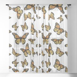 Monarch butterfly Sheer Curtain