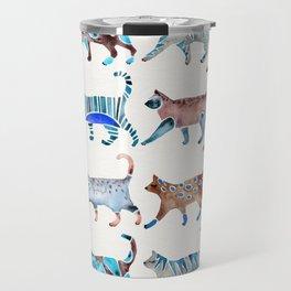 Cat Collection – Blue & Brown Palette Travel Mug
