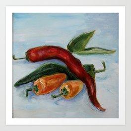 Chili Peppers Art Print