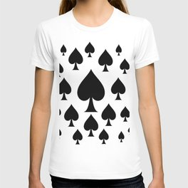 LOTS OF DECORATIVE BLACK SPADES CASINO ART T-shirt