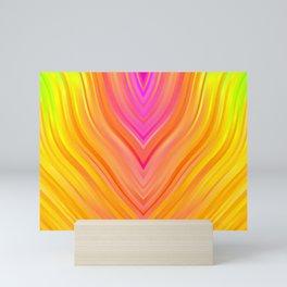 stripes wave pattern 3 stdi Mini Art Print