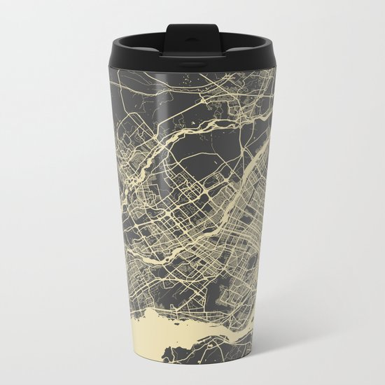 Montreal Map Metal Travel Mug