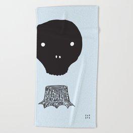 The Skull Tree Beach Towel