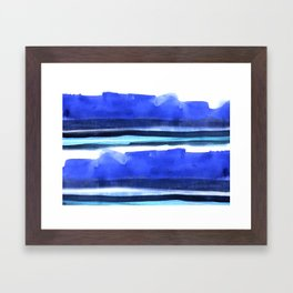 Wave Stripes Abstract Seascape Framed Art Print
