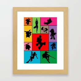 Super Smash Bros Who they are? Framed Art Print