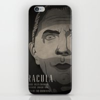 dracula iPhone & iPod Skins featuring Dracula  by James Northcote