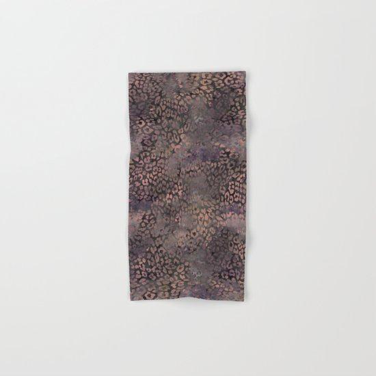 Brown Leopard Print Hand & Bath Towel