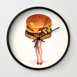 Cheeseburger Pin-Up Wall Clock