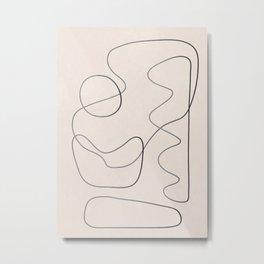Abstract Line III Metal Print