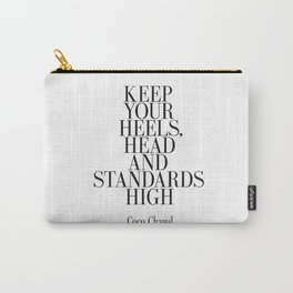 "Fashion Quote ""Better to be late than arrive ugly"" Fashion Print Fashionista Girl Bathroom Decor Carry-All Pouch"