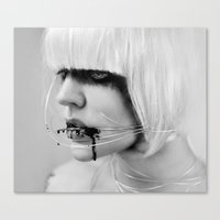 the wire Canvas Prints featuring wire. by Miklos